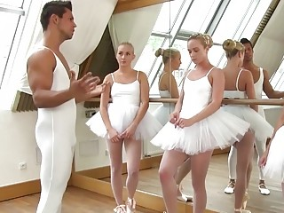 Group sex with naughty ballerina chicks
