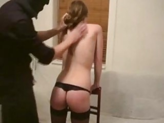 Masked weirdo has freaky fuck session with redhead Danish wench