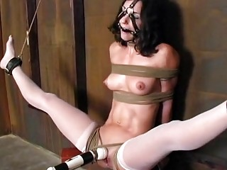 Chairbound big tits babe is pleasured