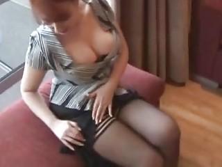 Busty redhead milf loves to masturbate