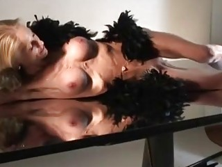 Sexy anorexic chick is being very naughty alone