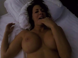 Yummy MILF with big tits gets dicked in the bedroom