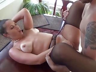 Seductive MILF in nylon fucks hard with horny boy toy