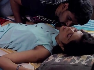 Indian cutie gets massaged and dicked hard in the bedroom