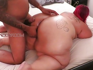 Fat slut loves to get doggy fucked hard