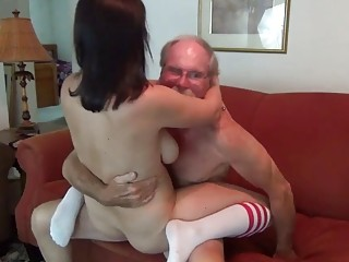 Kinky family hardcore fucking on the sofa