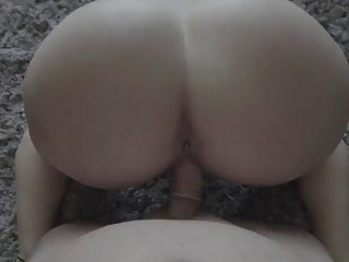 Desirable amateur gets penetrated by her lover's big dick