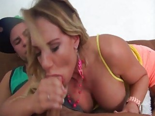 Hot babe gets shafted by a strapon and her stepbrother