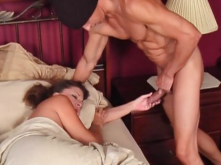 Guy fucks a sleeping MILF with his pulsating schlong