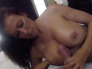 Stepmom with great tits pleasures a hard cock