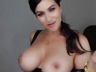 Amazing beauty with big tits teases the camera