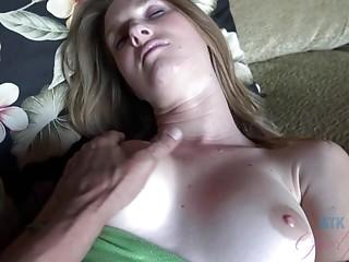 Filthy girl Ashley Lane gives nasty footjob and fucks hardcore