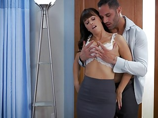 Horny tattooed naked MILF fucks hardcore with a young stud